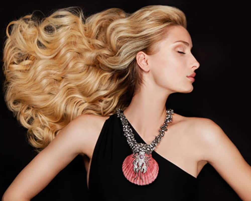A sleek blonde style by Mark James Hair Studio